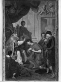 Emperor Theodosius I the Great Receiving the Pardon from St. Ambrose, Archbishop of Milan, C.1745 Photographic Print by Pierre Subleyras