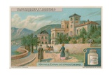 French Villas on the Cote D'Azur Giclee Print