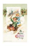 American Christmas Card Giclee Print by Ottmar the Elder Elliger