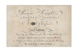 Trade Card, Riviere Knight Giclee Print