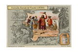 Robinson Crusoe Leaves the Island Giclee Print