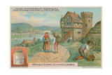 German Villa on the Rhine in the 16th Century Giclee Print