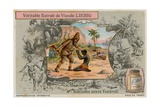 Robinson Crusoe with Man Friday Giclee Print