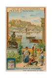 Corfu: the Statue of Achilles and Traditional Dress Giclee Print