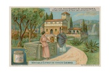 Roman Villa on the Tiber at Tivoli Giclee Print