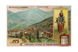 San Julia De Loria and a Messenger from Seo D'Urgel Giclee Print