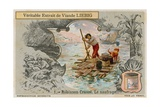 Robinson Crusoe after the Shipwreck Giclee Print
