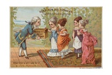 Man Delivering Soap to Ladies Giclee Print