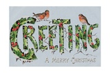 British Christmas Card Stampa giclée