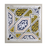 Catalan Modernism. Original Desing of Tile for the Decoration of the Guell Palace. Artist Antoni… Giclée-tryk