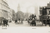 Horse-Drawn Carriages in Whitehall Photographic Print