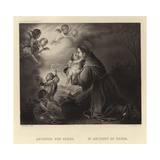 St Anthony of Padua Giclee Print by Bartolome Esteban Murillo