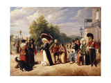Hyde Park Corner with the Duke of Wellington's Residence Giclee Print by Charles Cranmer