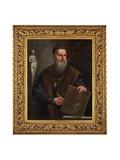 Imaginary Self Portrait of Titian Giclée-Druck von Pietro Della Vecchia