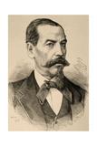 Narciso Campero (1815-1896). Engraving Giclee Print by Arturo Carretero y Sánchez