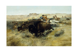 Buffalo Hunt No. 7, 1892-1895 Giclee Print by Charles Marion Russell