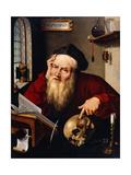 Saint Jerome in His Study Giclée-Druck von Joos Van Cleve