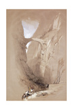 The Triumphal Arch Crossing the Ravine Leading to Petra, 1839 Giclee Print by David Roberts