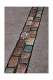 Cobblestones' Line That Marks the Place Where Was the Berlin Wall. Germany Giclee Print