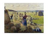 Harvesting Hay, Eragny; La Recolte Des Foins, Eragny, C.1887 Giclee Print by Camille Pissarro