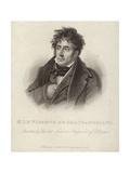 Portrait of Vicomte De Chateaubriand Giclée-tryk af Anne Louis Girodet de Roucy-Trioson
