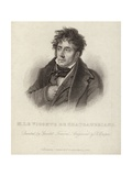 Portrait of Vicomte De Chateaubriand Giclee Print by Anne Louis Girodet de Roucy-Trioson