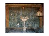 Italy. Pompeii. House of Venus. Fresco. Garden with Birds around the Fountain and Mask. 1st Century Giclee Print