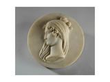 Medallion Portrait of Mrs Elizabeth Allan, 1834 Giclee Print by Joseph Gott