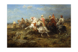 Arabian Patrol Giclee Print by Adolf Schreyer