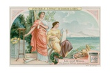 Clio (History) and Calliope (Heroic Poetry) Giclee Print