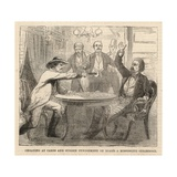 Cheating at Cards and Sudden Punishment on Board a Mississippi Steamboat Giclee Print