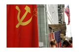 Flag of the Former Ussr in Checkpoint Charlie. Berlin. Germany Giclee Print