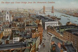 The River and Tower Bridge from the Monument, London Photographic Print