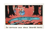 The Large Blue Lizard Giclee Print by Georges Barbier