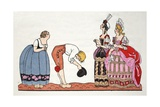 The Ugly Sisters from Cinderella Giclee Print by Georges Barbier