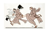 Being Chased by the Abbot, 1920 Giclee Print by Georges Barbier