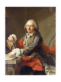 Portrait of the Artist, Half-Length, Seated before a Stone Ledge Giclee Print by Martin II Mytens or Meytens