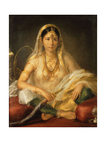 Portrait of a Mogul Lady, Seated Full Length, 1787 Giclee Print by Francesco Renaldi