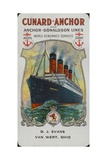 Cunard Ship - Aquitania Giclee Print