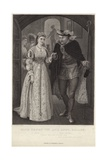 King Henry Viii and Anne Bullen Gicleetryck av Hopkins, Arthur
