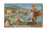 Ajaccio, Iles Sanguinaires Archepelago and a Fruit-Seller Giclee Print