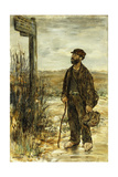The Tramp; Un Clochard Giclee Print by Jean Francois Raffaelli