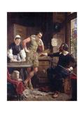Ben Jonson Describing His Duel to Drummond at Hawthornden Giclee Print by Ebenezer Crawford