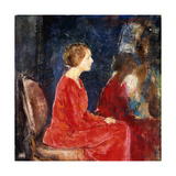 The Red Dress Giclee Print by Charles Webster Hawthorne