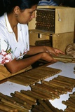 Woman Placing Cigars in a Box for Exportation, Santa Rosa De Copan, Honduras Photographic Print