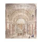 The Interior of the Great Hall, St George's Hall, Liverpool Giclee Print by Charles Robert Cockerell