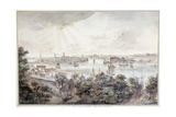 A View of Stockholm from Soder with the Royal Palace, Storkyrkan, Riddarholmskykan and Tskakykan Giclee Print by Elias Martin