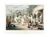 Negro Dance, Illustration from 'West India Scenery', 1836 Giclee Print by Richard Bridgens