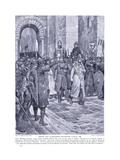 Bishop Odo Surrenders Rochester:Castlead1088, 1920's Giclee Print by Richard Caton II Woodville