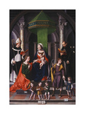The Mystic Marraige of Saint Catherine with the Archangel Raphael and Tobias Giclee Print by Marco Palmezzano